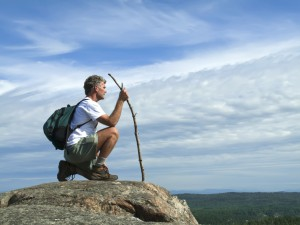 hiker on summitMedium